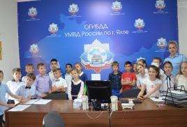Для юных ялтинцев сотрудники ГИБДД провели День открытых дверей